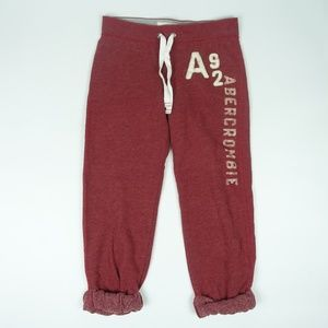 ABERCROMBIE & FITCH Girls SWEATPANTS Red Large L